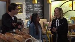 Ben Kirk, Kirsha Rebecchi, Piper Willis in Neighbours Episode 7705