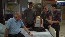 Hamish Roche, Tyler Brennan, Aaron Brennan, David Tanaka in Neighbours Episode 7705