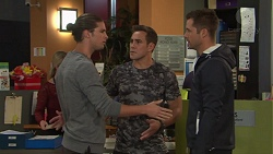 Tyler Brennan, Aaron Brennan, Mark Brennan in Neighbours Episode 7705