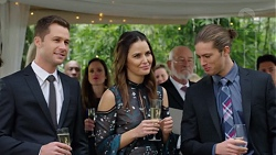 Mark Brennan, Elly Conway, Erson Carbajosa, Tyler Brennan in Neighbours Episode 7706