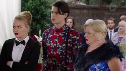 Xanthe Canning, Ben Kirk, Sheila Canning in Neighbours Episode 7707