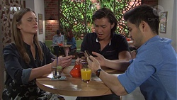 Amy Williams, Leo Tanaka, David Tanaka in Neighbours Episode 7707