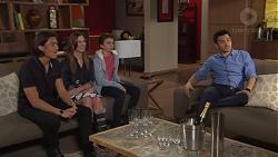 Leo Tanaka, Amy Williams, Jimmy Williams, David Tanaka in Neighbours Episode 7707