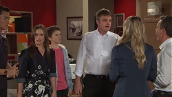 Leo Tanaka, Amy Williams, Jimmy Williams, Gary Canning, Courtney Grixti, Paul Robinson in Neighbours Episode 7707
