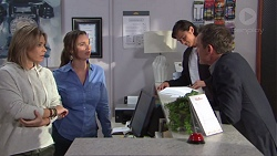 Steph Scully, Amy Williams, Leo Tanaka, Paul Robinson in Neighbours Episode 7708