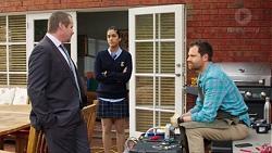 Toadie Rebecchi, Yashvi Rebecchi, Shane Rebecchi in Neighbours Episode 7709