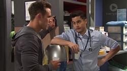 Aaron Brennan, David Tanaka in Neighbours Episode 7709