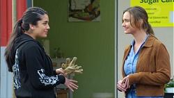 Yashvi Rebecchi, Amy Williams in Neighbours Episode 7709