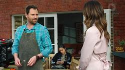 Shane Rebecchi, Yashvi Rebecchi, Elly Conway in Neighbours Episode 7709