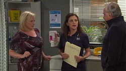 Sheila Canning, Louise McLeod, Hamish Roche in Neighbours Episode 7710