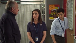 Hamish Roche, Louise McLeod, David Tanaka in Neighbours Episode 7710