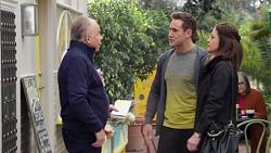 Hamish Roche, Aaron Brennan, Louise McLeod in Neighbours Episode 7710