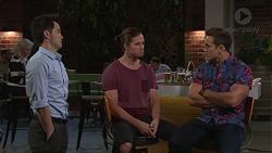 David Tanaka, Tyler Brennan, Aaron Brennan in Neighbours Episode 7710