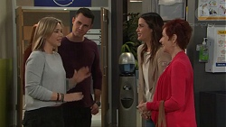 Steph Scully, Jack Callahan, Elly Conway, Susan Kennedy in Neighbours Episode 7712