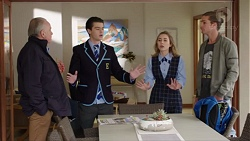 Hamish Roche, Ben Kirk, Piper Willis, Tyler Brennan in Neighbours Episode 7713
