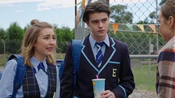 Piper Willis, Ben Kirk, Amy Williams in Neighbours Episode 7713