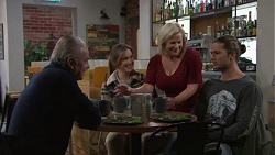 Hamish Roche, Amy Williams, Sheila Canning, Tyler Brennan in Neighbours Episode 7713