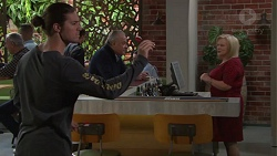 Tyler Brennan, Hamish Roche, Sheila Canning in Neighbours Episode 7713