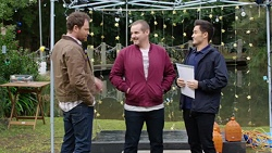 Shane Rebecchi, Toadie Rebecchi, David Tanaka in Neighbours Episode 7714