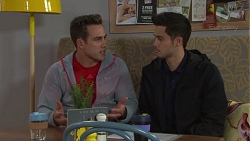 Aaron Brennan, David Tanaka in Neighbours Episode 7714