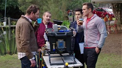 Shane Rebecchi, Toadie Rebecchi, David Tanaka, Aaron Brennan in Neighbours Episode 7714