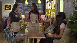 Yashvi Rebecchi, Dipi Rebecchi, Leo Tanaka, Mishti Sharma in Neighbours Episode 7714