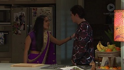 Yashvi Rebecchi, Ben Kirk in Neighbours Episode 7715