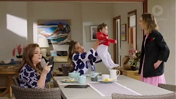 Terese Willis, Paige Novak, Gabriel Smith, Piper Willis in Neighbours Episode 7716