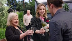 Sheila Canning, Hamish Roche, Piper Willis, Tyler Brennan in Neighbours Episode 7716