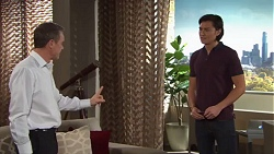 Paul Robinson, Leo Tanaka in Neighbours Episode 7716