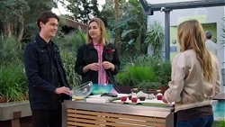 Ben Kirk, Piper Willis, Xanthe Canning in Neighbours Episode 7716