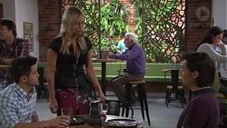 David Tanaka, Courtney Grixti, Leo Tanaka in Neighbours Episode 7716