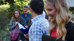 Sonya Mitchell, Gary Canning, David Tanaka, Abby Coleman in Neighbours Episode 7717
