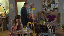 Sonya Mitchell, Toadie Rebecchi, Karl Kennedy, Sheila Canning, Susan Kennedy, Aaron Brennan in Neighbours Episode 7718