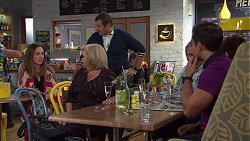Sonya Mitchell, Sheila Canning, Toadie Rebecchi, Karl Kennedy, Susan Kennedy, Aaron Brennan in Neighbours Episode 7718