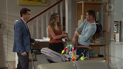Jack Callaghan, Paige Novak, Mark Brennan in Neighbours Episode 7719