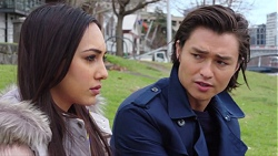Mishti Sharma, Leo Tanaka in Neighbours Episode 7720