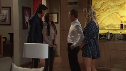 Leo Tanaka, Mishti Sharma, Paul Robinson, Courtney Grixti in Neighbours Episode 7720