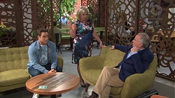 Aaron Brennan, Sheila Canning, Hamish Roche in Neighbours Episode 7721