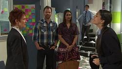 Susan Kennedy, Shane Rebecchi, Dipi Rebecchi, Ben Kirk, Yashvi Rebecchi in Neighbours Episode 7721