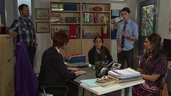 Shane Rebecchi, Susan Kennedy, Yashvi Rebecchi, Ben Kirk, Dipi Rebecchi in Neighbours Episode 7721