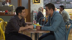 David Tanaka, Aaron Brennan in Neighbours Episode 7721