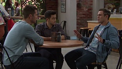 Mark Brennan, David Tanaka, Aaron Brennan in Neighbours Episode 7721