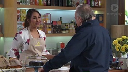 Dipi Rebecchi, Hamish Roche in Neighbours Episode 7722