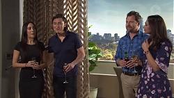 Mishti Sharma, Leo Tanaka, Shane Rebecchi, Dipi Rebecchi in Neighbours Episode 7724
