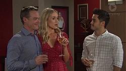 Paul Robinson, Courtney Grixti, David Tanaka in Neighbours Episode 7724
