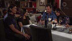 Leo Tanaka, Mishti Sharma, Shane Rebecchi, Dipi Rebecchi in Neighbours Episode 7724